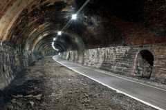 Abandoned train tunnel Stock Photo