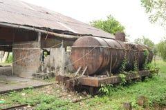 Abandoned train wagon at Quirigua Stock Photo
