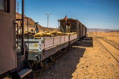 Haj Railway, Jordan, abandoned trains,Wadi Rum royalty free stock photos