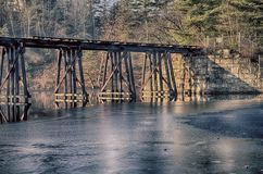 Abandoned Trestle Stock Photo