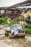 Abandoned truck in a cave Royalty Free Stock Photo