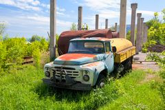 Abandoned truck ZIL Royalty Free Stock Images