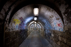 Abandoned tunnel Royalty Free Stock Photography