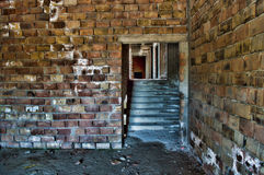 Abandoned under construction in HDR royalty free stock photo