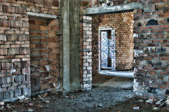 Abandoned under construction in HDR stock images
