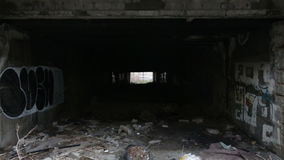 Abandoned underpass. Under a main street in a Sofia's neighbourhood stock video footage