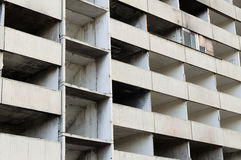 Abandoned and uninhabitable apartment building destroyed by fire Royalty Free Stock Photo