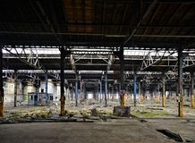 Abandoned and vacant factory Royalty Free Stock Image