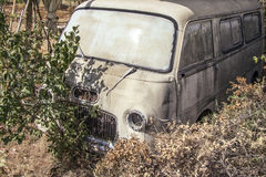 Abandoned van Stock Image