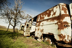 Abandoned van Stock Images