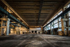 Abandoned vehicle repair station Royalty Free Stock Photo