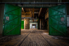 Abandoned vehicle repair station Royalty Free Stock Photo