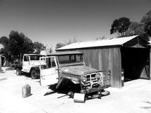 Abandoned vehicles Australian Outback Ghost Town royalty free stock photos