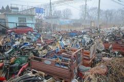 Abandoned vehicles. Beijing, China rural abandoned vehicles Royalty Free Stock Image