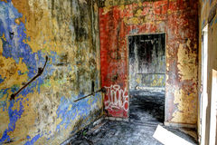 Abandoned villa, Kep (interior) Stock Photo