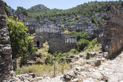 Abandoned village of Kayakoy, near Hisaronu, Turkey Royalty Free Stock Images