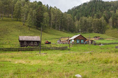 Abandoned village. In mountains of Altai Stock Photography