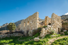 Abandoned village of Occi near Lumio in Corsica Stock Photo