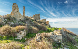 Abandoned village of Occi near Lumio in Corsica Royalty Free Stock Images