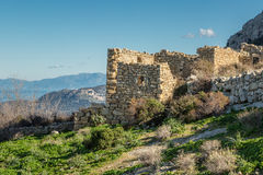 Abandoned village of Occi near Lumio in Corsica Stock Photos