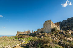 Abandoned village of Occi near Lumio in Corsica Stock Photography