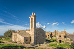 Abandoned village of Occi near Lumio in Corsica Royalty Free Stock Image