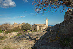 Abandoned village of Occi near Lumio in Corsica Royalty Free Stock Photos