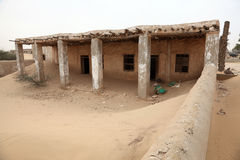 Abandoned village in Qatar, Middle East Royalty Free Stock Photo