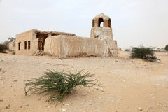 Abandoned village. Qatar Royalty Free Stock Photography