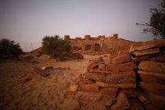 Abandoned Village in Rajasthan India Royalty Free Stock Photography