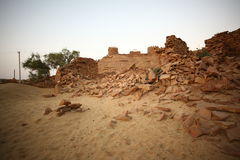 Abandoned Village in Rajasthan India Stock Photo