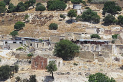 The abandoned village Souskiou in Paphos District, Cyprus Royalty Free Stock Images