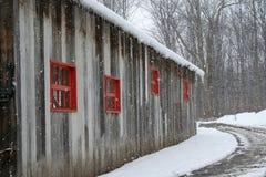 Abandoned  vintage barn. Stock Images