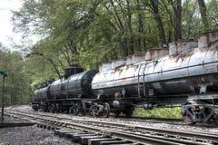 Abandoned vintage cargo train Stock Photography