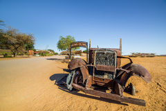 Abandoned vintage cars in Solitaire, a lonely settlement in Nami Stock Photography