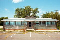 Abandoned vintage diner in New Jersey Royalty Free Stock Photo