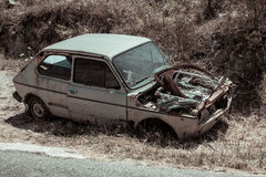 An abandoned vintage old car Stock Photography