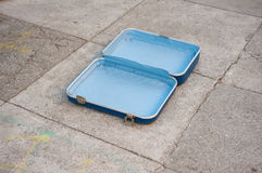 Abandoned Vintage Suitcase Stock Photos
