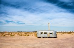 Abandoned vintage trailer Royalty Free Stock Photos
