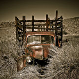 Abandoned Vintage Truck. An abandoned truck located in the desert of Eastern Sierra, California Royalty Free Stock Photo