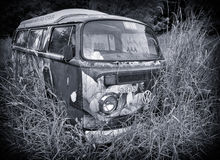 Abandoned VW Combi Campervan Stock Photo