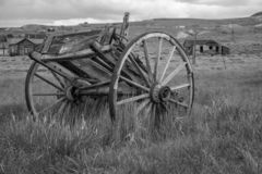 A Wagon in Bodie, California royalty free stock photos