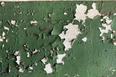 Abandoned wall coloured in green. Background texture. Stock Image