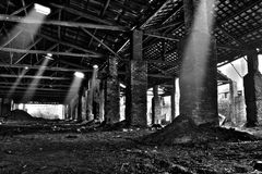 Abandoned warehouse Royalty Free Stock Photography