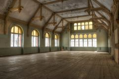 Abandoned Warehouse in Beelitz Stock Photo