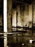 Abandoned warehouse building stock photo