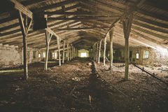 Abandoned warehouse building or barn Royalty Free Stock Photo