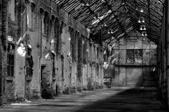Abandoned warehouse in East Germany Royalty Free Stock Images