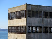 Abandoned Warehouse. Empty and abandoned industrial warehouse building exterior stock photo