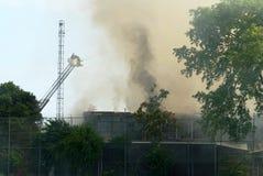 Abandoned Warehouse Fire Stock Image
